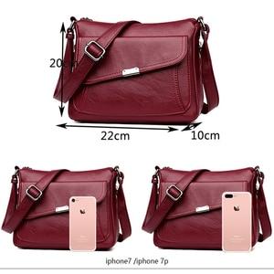 Image 4 - Summer Style 2020 Bolsas Soft Leather Luxury handbags Women bags Designer Multi pocket Crossbody Shoulder Bags For Women Sac