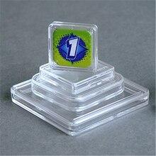 10 adet yüksek kaliteli 10 boyut kare şeffaf plastik akrilik koruyucu kapları için jetonu kurulu oyun tutucu kutuları