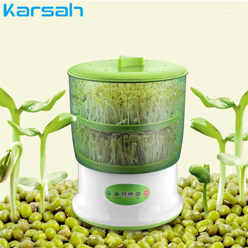20W Intelligent Bean Sprouts Machine Large Capacity Automatic Homemade DIY Tools  Hermostat Green Seeds Growing Machine