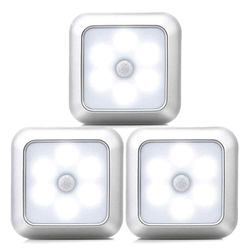 New 6Leds Infrared PIR Motion Sensor Under cabinet Light Wireless Detector Wall Lamp Auto On/Off Closet kitchen bedroom lighting
