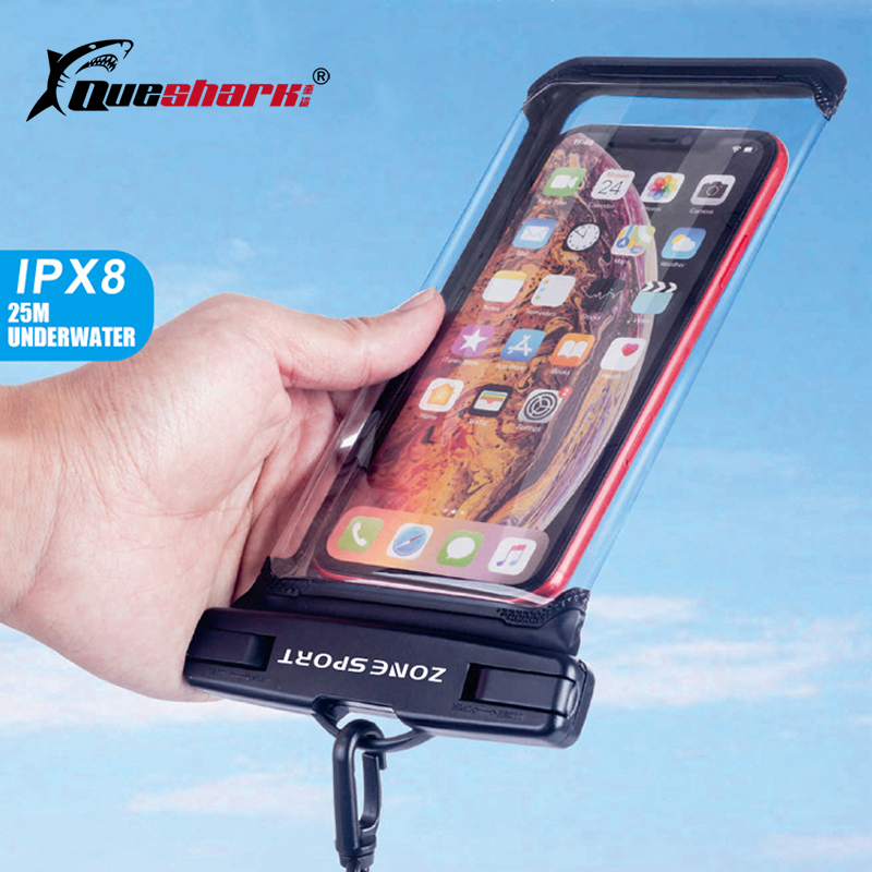 2020 Panoramic Touchscreen Waterproof Phone Bag Hot Spring Drifting Diving Swimming Bag Seaside 6.9inch Mobile Phone Holder Case
