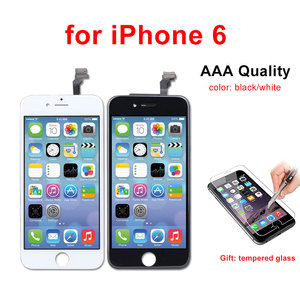 Image 4 - Pantalla LCD de calidad AAA para iPhone 6, 5, 5S, 5C, SE, montaje de digitalizador con Pantalla táctil, color negro/blanco