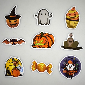 New PVC Graffiti Waterproof Personality Cartoon Sticker Car Styling Halloween Waterproof Doodle Removable Stickers image