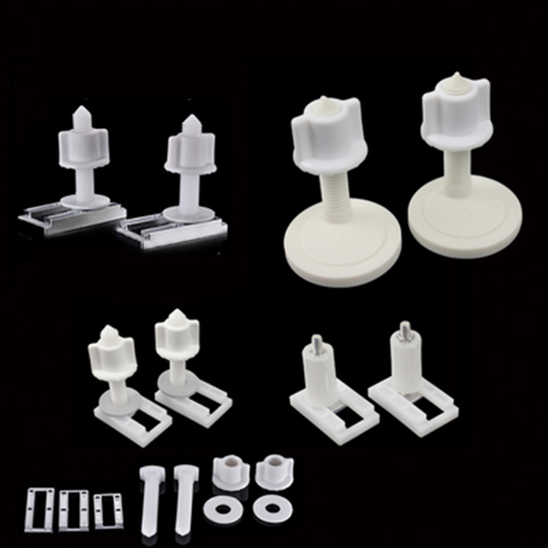 1Pair Toilet Seat Cover Fixings Plastic Toiletseat Screws Quick Release Hinge toilet Mounting connector Repair Parts