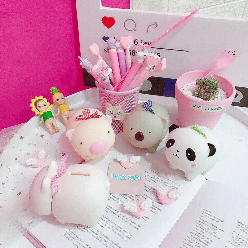 Soft Eva Plastic Pig Piggy Bank Creative Cartoon Piggy Bank Furnishing Articles Props Gift Cute Doll Room Coin Bank