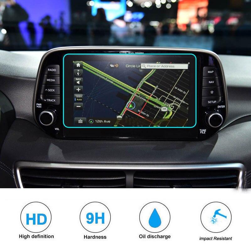 8 pouces pour Hyundai Tucson 2019 verre trempé protecteur d'écran voiture gps navigation écran tactile film d'affichage film de protection