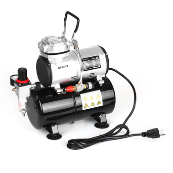 KKMOON Silent Airbrush Compressor with High Pressure Pump for Tattoo and Manicure Spraying