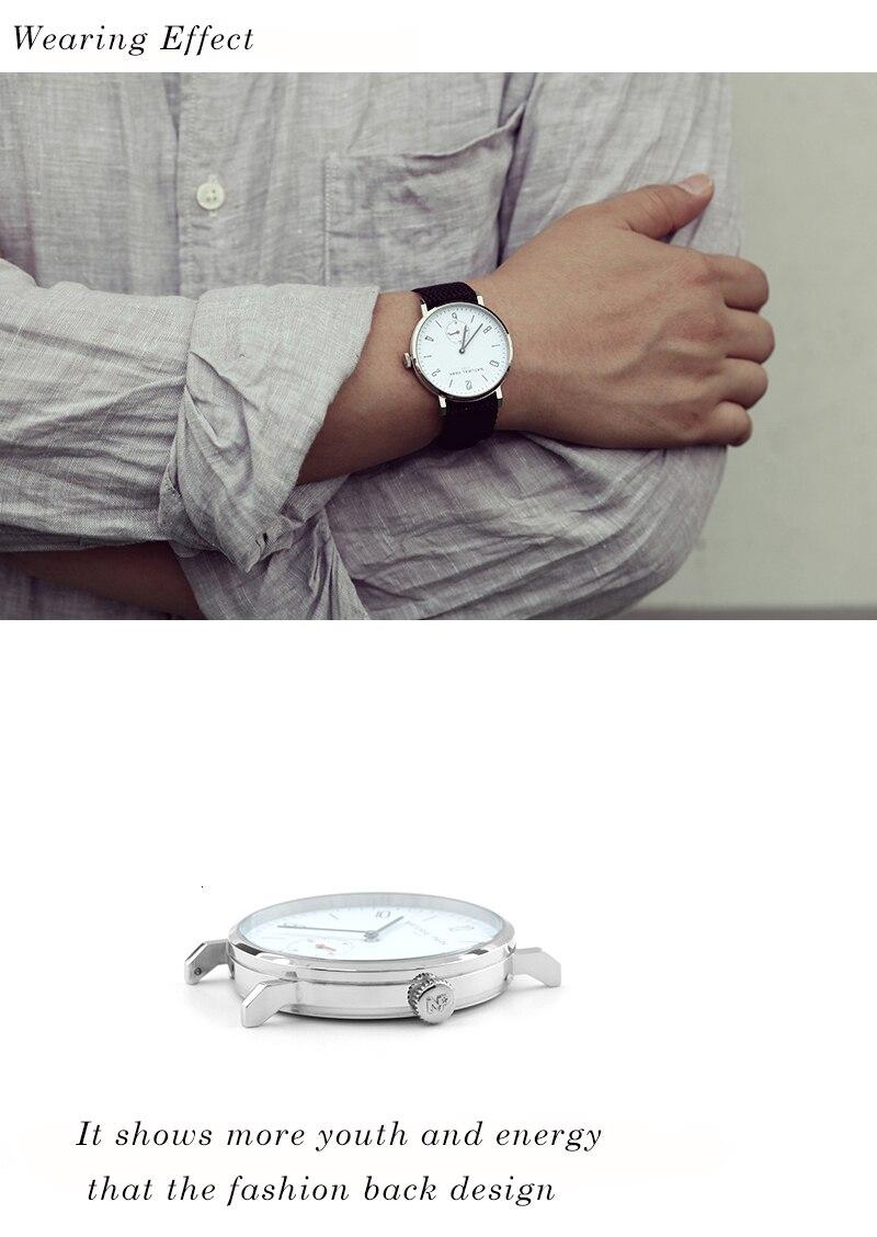 náilon simples relógios masculinos moda relógio de