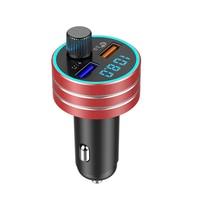 fm משדר נגני MP3 KAJARN רכב משדר FM VR רובוט FM אפנן Bluetooth 5.0 USB כפול דיבורית לרכב מתאם אלחוטי Charge (4)