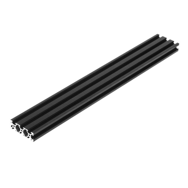 Черный анодированный 500 мм алюминиевый профиль экструзионная рама для ЧПУ 3D принтер плазменная подставка мебель