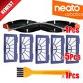 Roller Pinsel + HEPA Filter für Neato XV 21 XV Signature Pro XV 11 XV 12 XV 15 Gebogene Combo Roller Pinsel Ersatz-in Staubsauger-Teile aus Haushaltsgeräte bei
