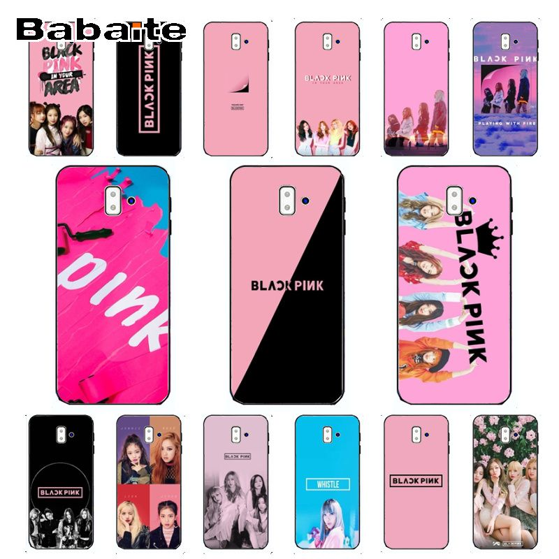 BLACK PINK BLACKPINK <font><b>kpop</b></font> collage Custom Photo Soft Phone Case For <font><b>samsung</b></font> Galaxy <font><b>j6</b></font> <font><b>plus</b></font> A6 A8 A9 A10 A30 A50 <font><b>Coque</b></font> Shell image