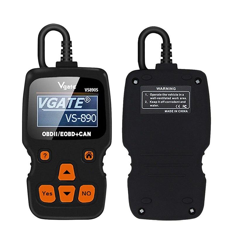 Vgate VS890 OBD2 Scanner VS890S Code Reader Unterstützung OBD OBDII KÖNNEN Protokolle Multi-sprachen VS-890 OBD Auto diagnose Tool