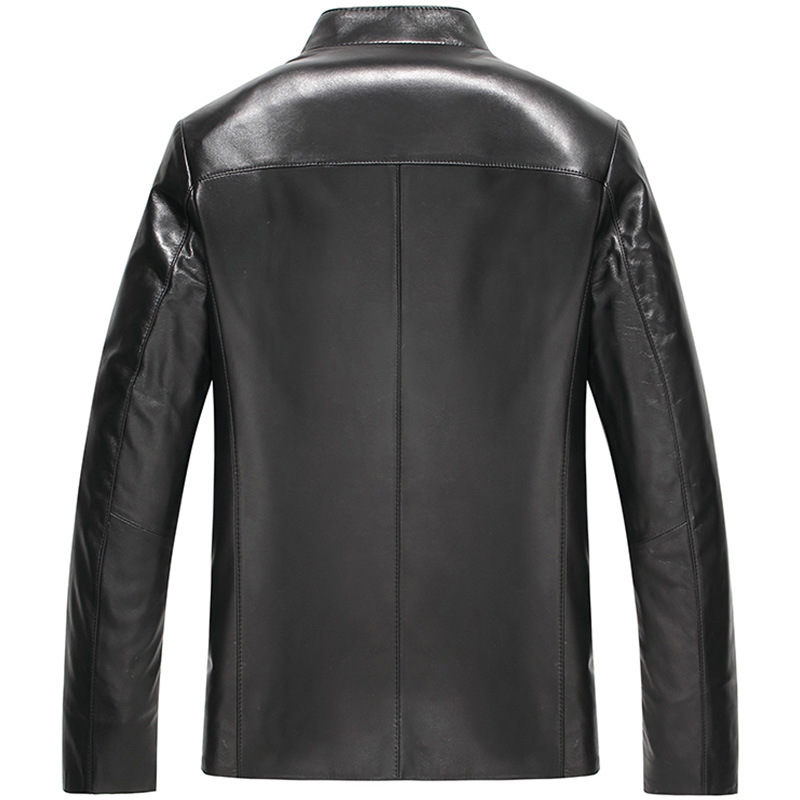 Men Sheepskin Coat Spring Autumn Motorcycle Jackets Genuine Leather Jacket Men Chaqueta Cuero Hombre 16H9902 YY268