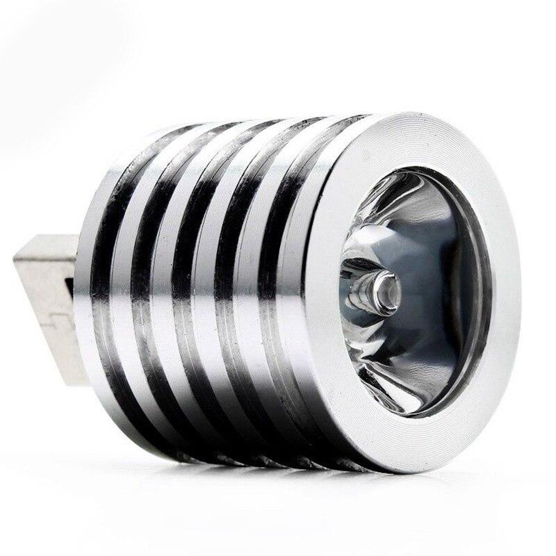 New Portable USB Led Spotlight Lamp Mobile Power Flashlight Silver