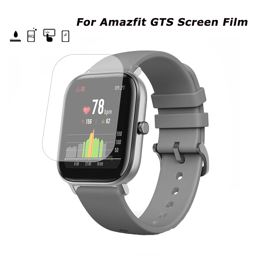 For <font><b>Amazfit</b></font> GTS Full Cover Clear Soft HD Screen Protector <font><b>Film</b></font> for Huami <font><b>Amazfit</b></font> GTS Smart Watch TPU Protector Cover image