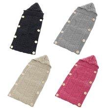 4 цвета для новорожденных вязаный крючки для вязания шерстью спальный кнопка для сумки пеленать одеяло с шапкой мягкие теплые аксессуары для 0-1 года