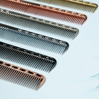 1pc Small Space Aluminuml Hair Comb Professional Hairdressing Combs Hair Cutting Dying Hair Brush Barber Tools Salon Accessaries