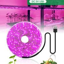 LED Grow Light Full Spectrum 5V USB Grow Light Strip 2835 LED Phyto Lamps For Plants