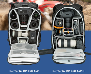 """Image 2 - Genuine Lowepro ProTactic 450 aw / 450 aw II shoulder camera bag SLR backpack with all weather Cover 15.6"""" laptop"""