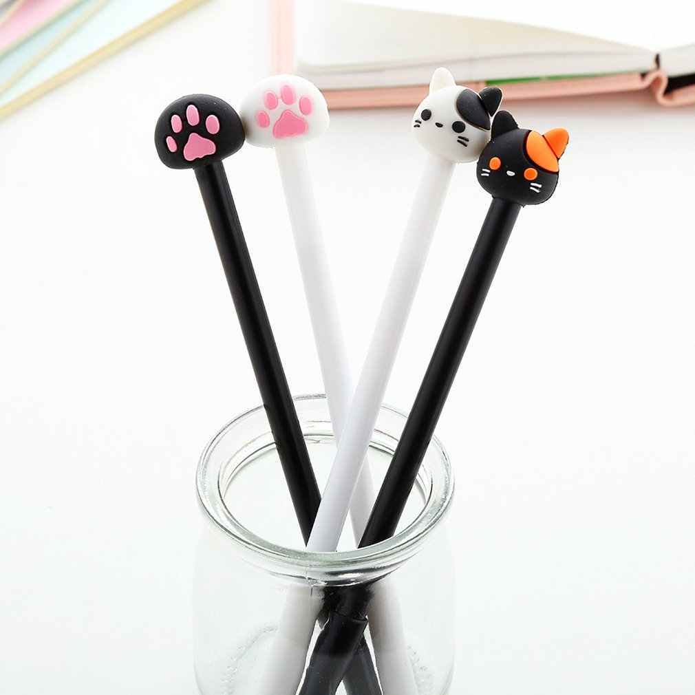 Cute Cat Cat Paw Gel Pen Student Supplies Easy To Carry Exquisite Cute Shape Durable Stationery