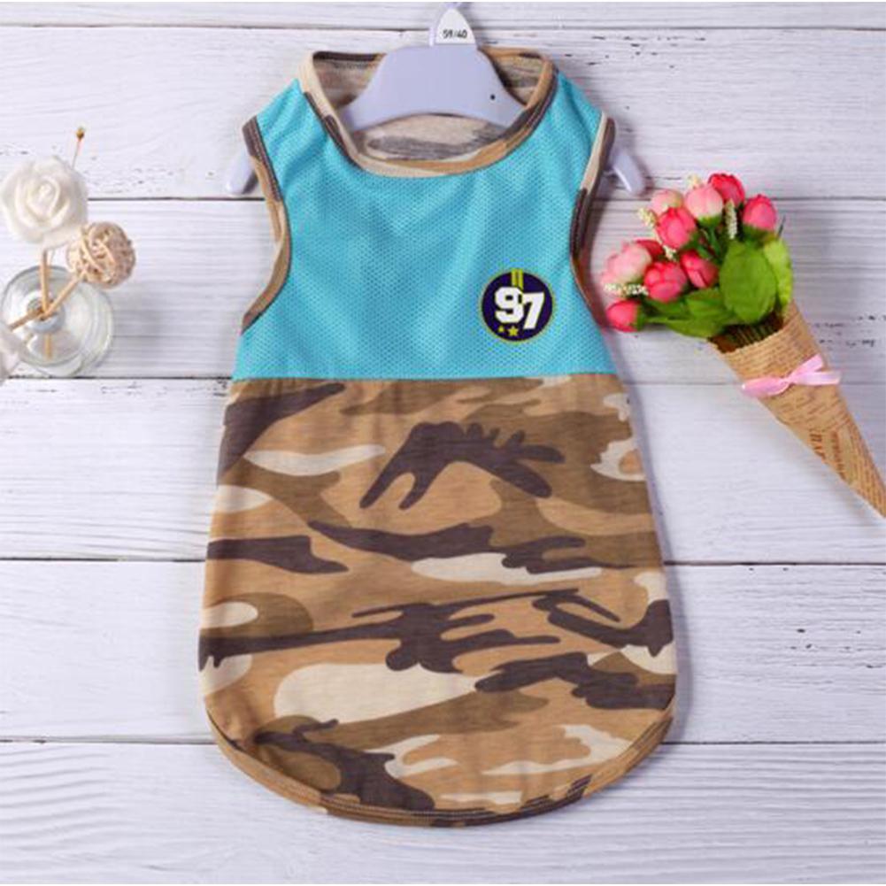 Купить с кэшбэком GloryStar Dog Clothes Summer Vest Pet Small Dogs Golden Retriever T-shirt