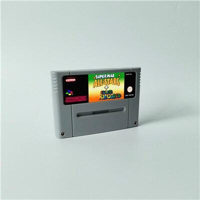 Super Marioed World wszystkie gwiazdy 2D Land Omega powrót do ziemi dinozaurów 3x karta do gry RPG wersja EUR oszczędzanie baterii