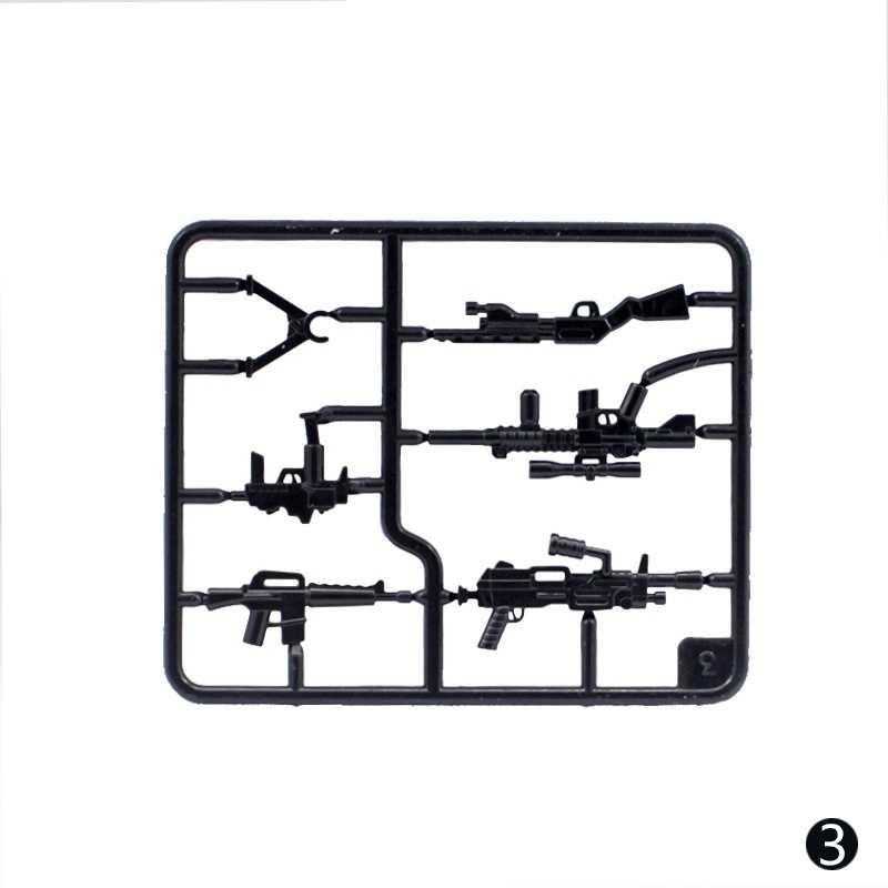 Accesorios para arma militar, ametralladora pesada, armas de motocicleta, soldados, policía WW2, ensamblaje de bloques de construcción, juguetes para niños