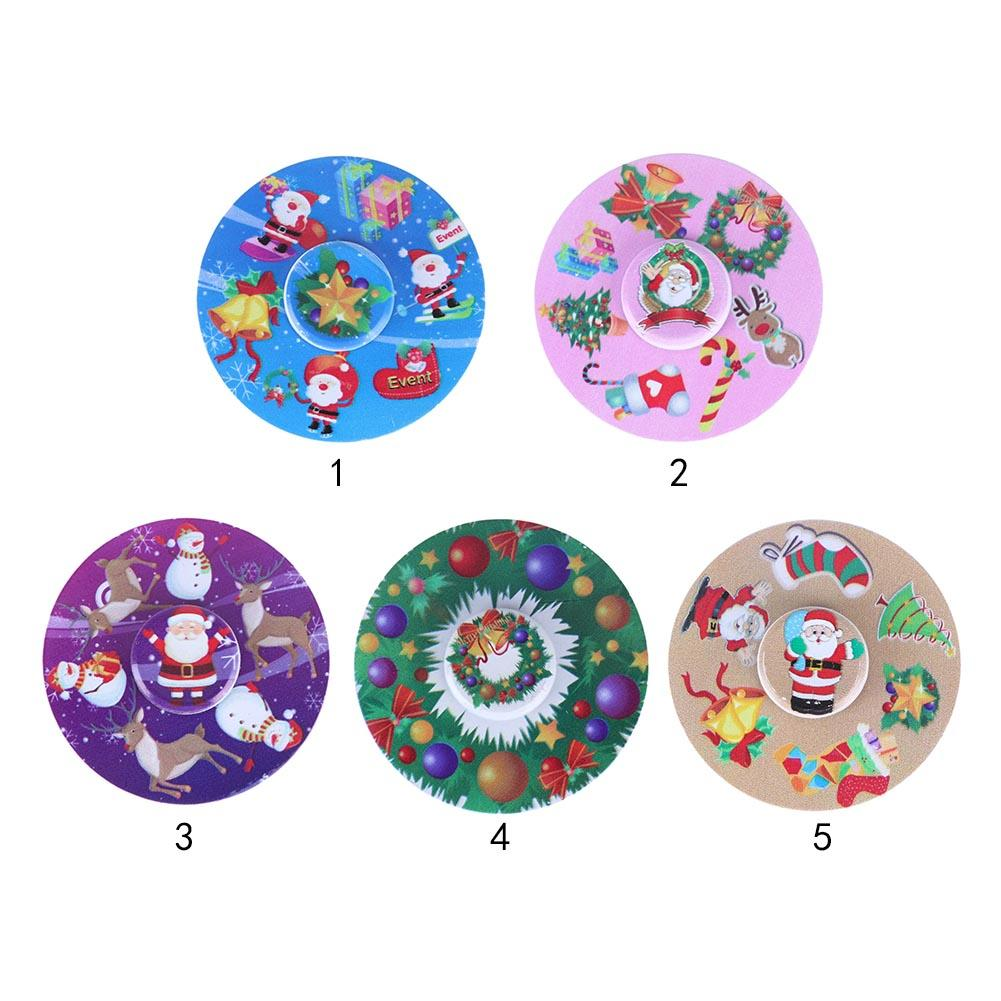 EDC Fidget Hand Spinner Round Finger Gyro Anti Stress Toy Kids Xmas Gifts Christmas Toys Baby Christmas Gifts Funny Relaxed Toys