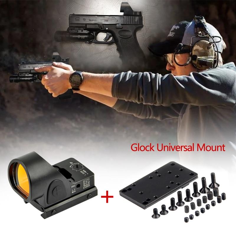 Collimator Sight Mini RMR SRO Red Dot Scope Sight 2.5 Moa Airsoft Hunting Reflex Sight Fit 20mm Weaver Rail For Glock / Rifle
