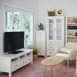 1 шт. Пластик 11,2*3*7,3 см 1/12 ScaleDollhouse миниатюрный ТВ модель для Гостиная мебельная фурнитура