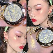 Highlighter brilho maquiagem rosto contorno shimmer pó brilho paleta destaque rosto iluminar em pó cosméticos tslm2