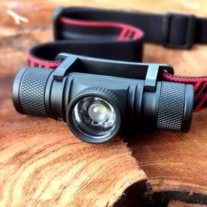 Image 5 - Mini faro LED para el frío intenso, faro XML, lámpara de cabeza de alta potencia, recargable por USB, 18650, para caza, pesca y Camping