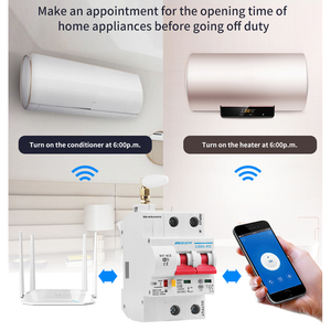 Image 2 - 2P WiFi Smart Circuit Breaker Automatic Switch overload short circuit protection with Amazon Alexa Google home for Smart Home