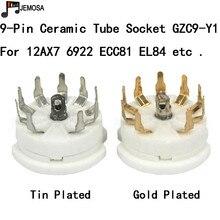 10 Uds de 9pin B9A montaje en PCB tubo enchufe para 12AX7 12AT7 12AU7 6DJ8 ECC82 5670 6922 Hifi Audio Vintage AMP DIY envío gratis