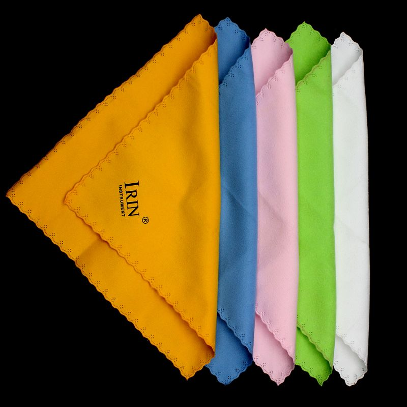 5pcs Microfiber Cleaning Polishing Polish Cloth For Musical Instrument Guitar Violin Piano Clarinet Trumpet Sax Universal