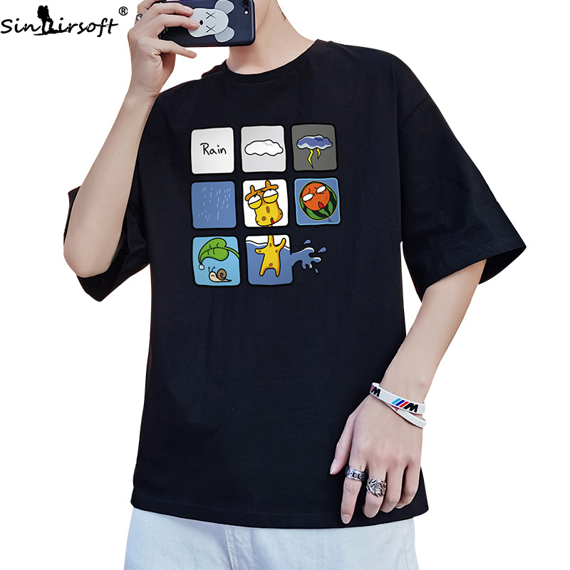 Summer Hot Sale Men's T-shirt 100% Cotton New Nine Palaces Anime Print Tshirt Men's Fashion Casual Loose Round Neck T Shirt Men image
