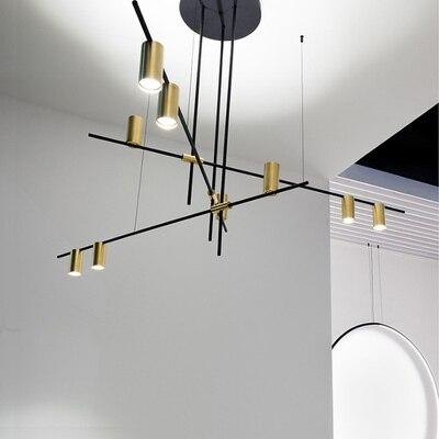 Modern Chandelier LED Lighting Pendant Lamp Art Decor Gold Metal Hanglamp For Living Room Dinning Room Luminaire Light Fixtures