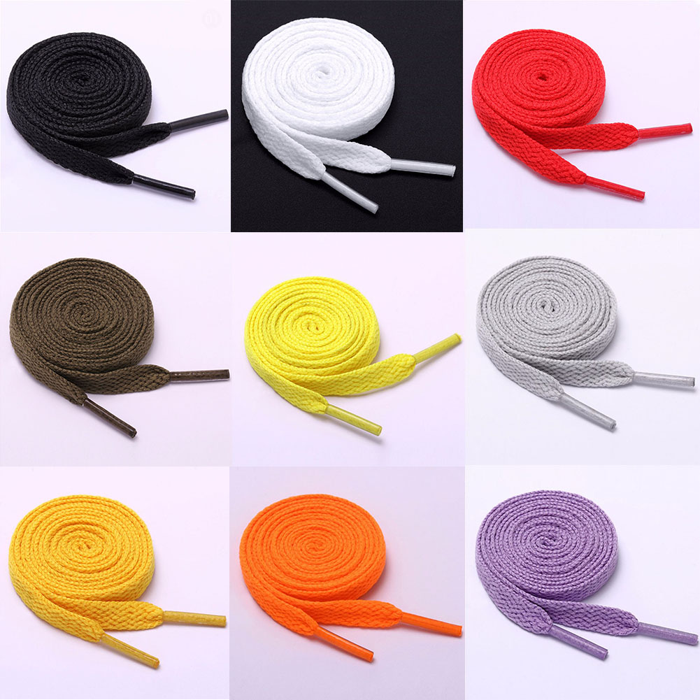1 Pair New Flat 1Pair Athletic Shoelaces Sport Sneaker Boots Shoe Laces Strings Kids Adult Solid Colors 80cm / 100cm / 120cm