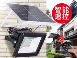6 sztuk hurtownie 10W 20W 30W 50W 100W zewnętrzne światło powodziowe LED zasilane energią słoneczną kontroli czasu + pilot zdalnego sterowania wodoodporne reflektory w Reflektory od Lampy i oświetlenie na