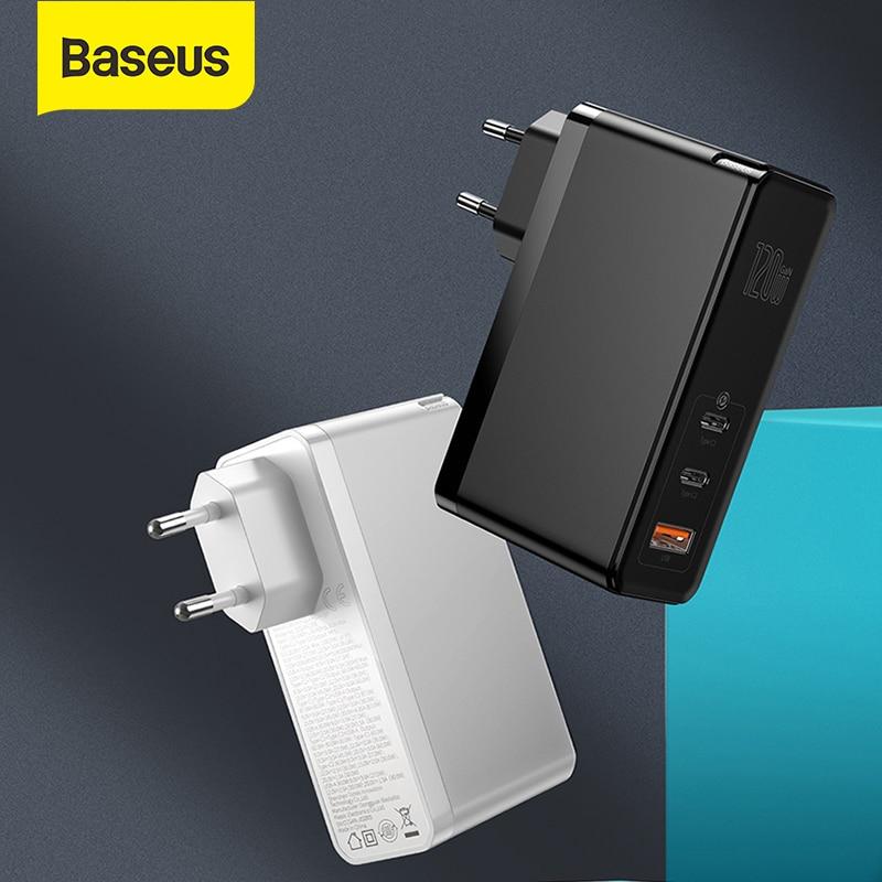 Baseus GaN зарядное устройство 120 Вт PD Быстрая зарядка USB C зарядное устройство QC4.0 QC3.0 Быстрая зарядка USB зарядное устройство ForMacbook ForiP для ноутбука планшета|Зарядные устройства|   | АлиЭкспресс - Топ аксессуаров для смартфонов