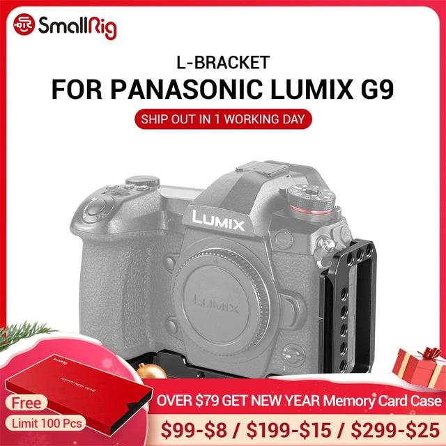 SmallRig G9 L סוגר עבור Panasonic Lumix G9 מצלמה L צלחת שחרור מהיר חצובה Monopods לצרף 2191