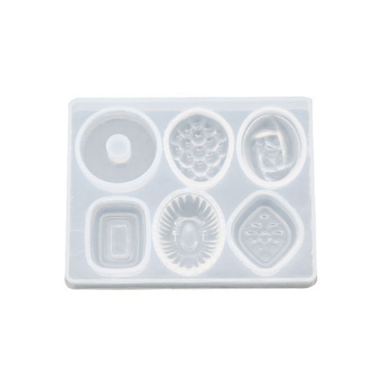 DIY Crafts Making Crystal Epoxy Mold Earrings Candy Mould High Mirror UV Resin Silicone Molds  T4MD