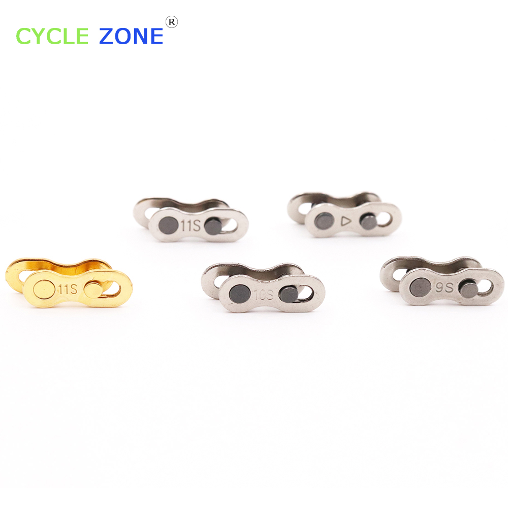 1 Pair MISSING LINK 11 SPEED SILVER GOLD 6S 7S 8S 9S 10S 11S Speed Chains For Shimano & Campagnolo Missing Link Repair Drop Ship