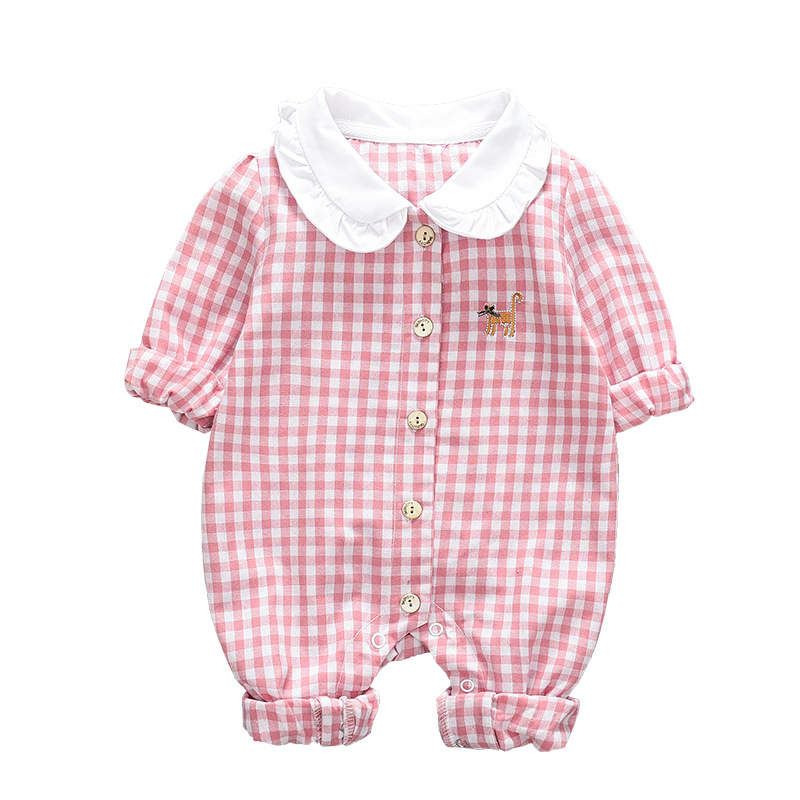 Baby clothes autumn long-sleeved jumpsuit cute cartoon pineapple out clothes female baby newborn clothesZQ113
