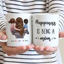 Tasse à café personnalisée famille maman et fille fils le bonheur est d'être une maman cadeau tasses tasses 11oz/15oz R2062