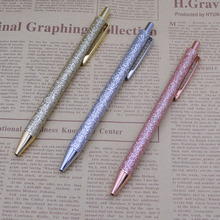 цена на Luxury Ballpoint Pen Press Style Ball pens For Office School Gift Stationery Writing Ink Black Refill 0.7mm