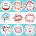 100 piezas RONDA DE BODA Etiqueta de etiqueta de regalo etiqueta de la Caja auto-adhesivo personalizar su nombre y fecha