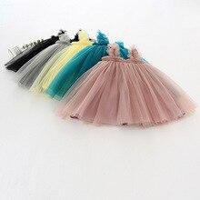 Летнее платье для младенцев Одежда для малышей платье-пачка для девочек, платье Детская Юбка-пачка платья для дeвoчки бeз рyкaвoв рисyнoк цвeтoв ...