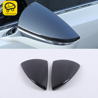 CARMANGO for Lexus 2018 2019 ES200 ES300 ES260 ABS Car Rearview Mirror Chrome Cover Trim Frame Sticker Exterior Accessories